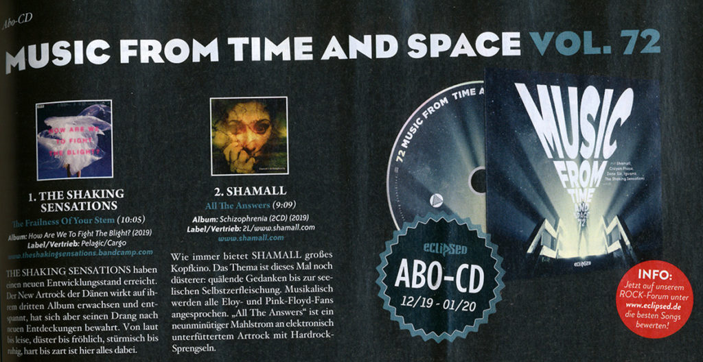 Shamall - All the answers auf Sampler des Eclipsed Rock Magazins