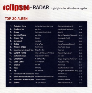 """Turn Off"" in den Eclipsed Hörercharts!"